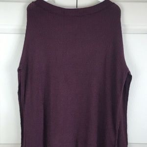 Free People Tops - Free People North Shore Waffle Knit Tee Tunic M